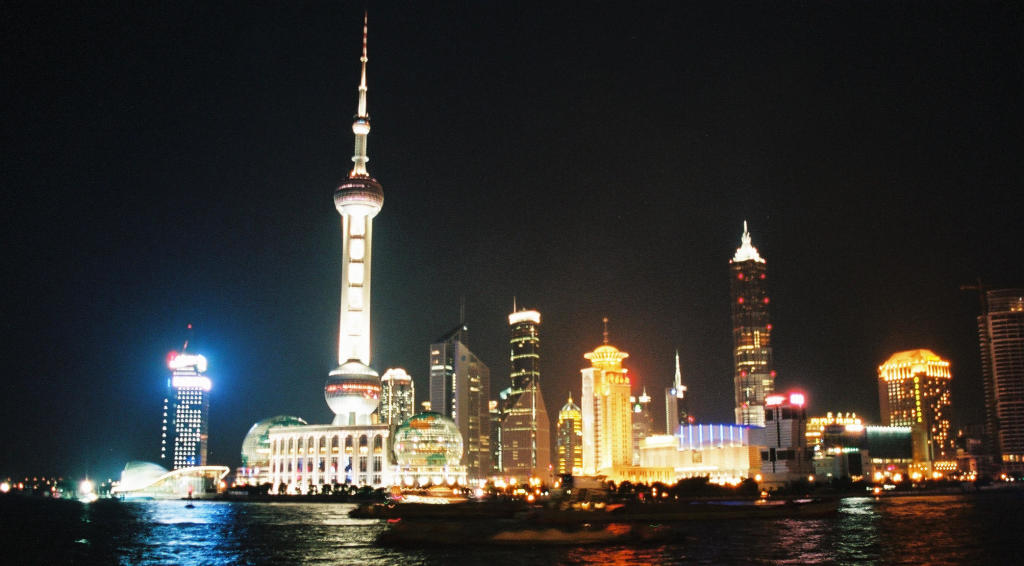 Pudong by night - 2002